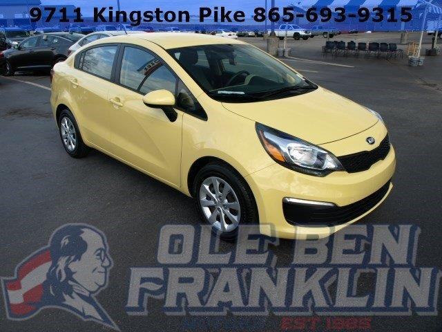 2016 KIA RIO LX 4DR SEDAN 6A yellow only 9758 miles boasts 36 highway mpg and 27 city mpg this