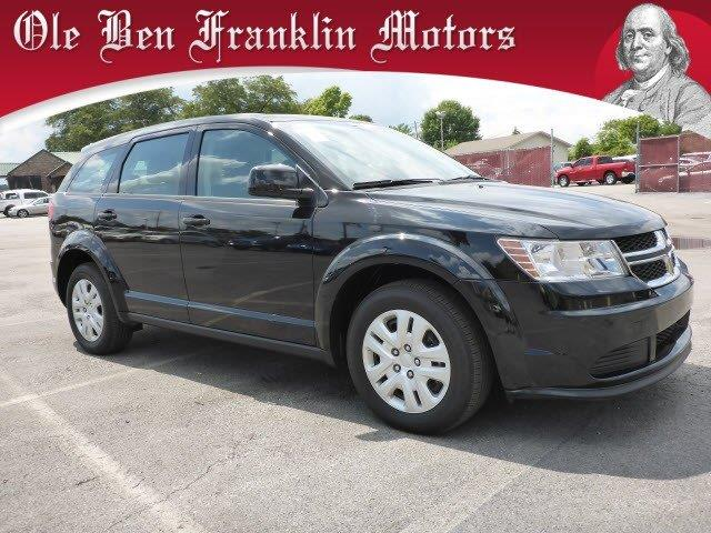 2014 DODGE JOURNEY AMERICAN VALUE PKG pitch black clearcoat only 15790 miles boasts 26 highway