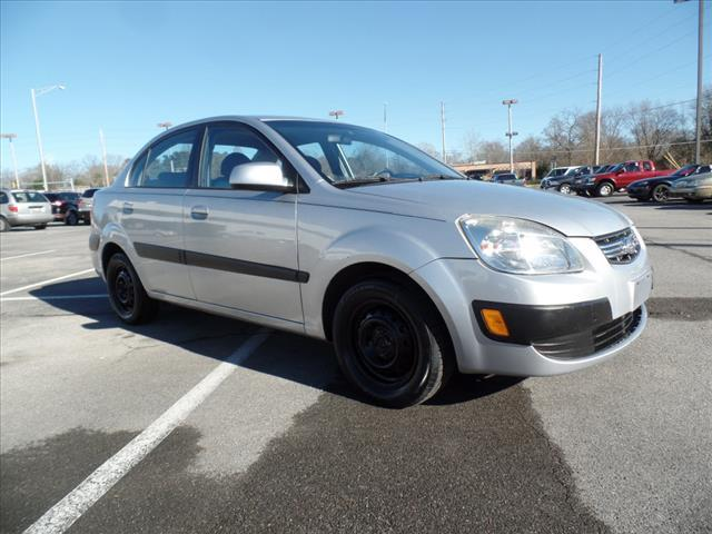 2009 KIA RIO LX 4DR SEDAN 4A silver crumple zones front and rearair conditioning - frontair con