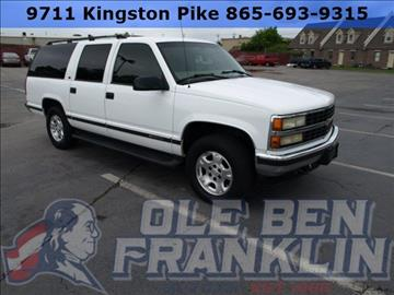 1999 chevrolet suburban for sale for Ole ben franklin motors knoxville