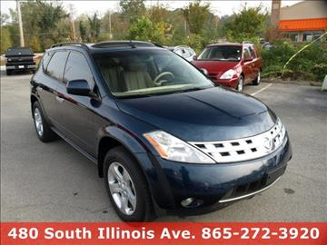 2004 nissan murano for sale knoxville tn. Black Bedroom Furniture Sets. Home Design Ideas
