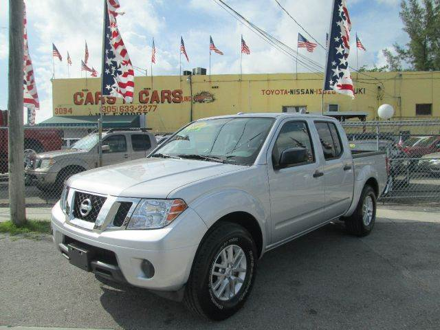 2014 NISSAN FRONTIER SV 4X2 4DR CREW CAB 5 FT SB PIC silver abs - 4-wheel active head restraints