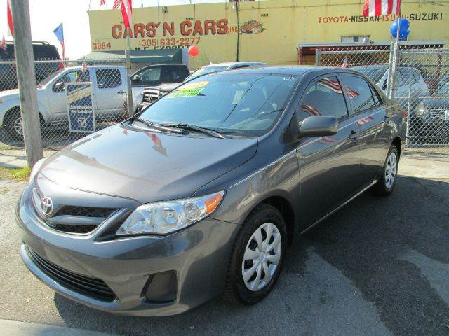 2013 TOYOTA COROLLA L 4DR SEDAN 4A gray abs - 4-wheel active head restraints - dual front air f