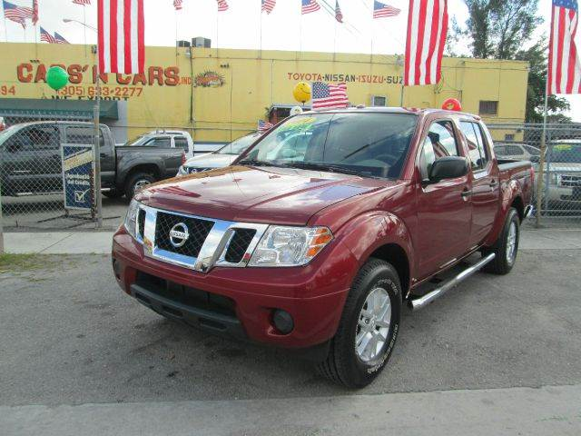 2014 NISSAN FRONTIER SV 4X2 4DR CREW CAB 5 FT SB PIC red 2-stage unlocking - remote abs - 4-whee