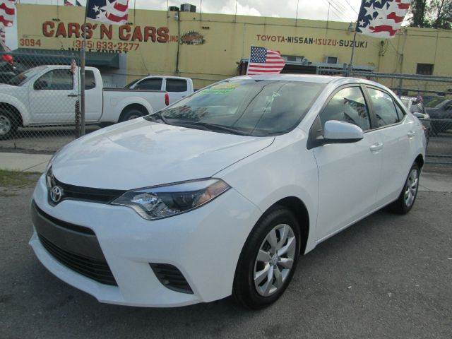 2015 TOYOTA COROLLA LE 4DR SEDAN white 2-stage unlocking - remote abs - 4-wheel air filtration