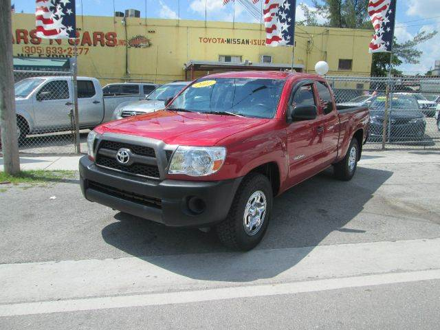 2011 TOYOTA TACOMA BASE 4X2 4DR ACCESS CAB 61 FT S red abs - 4-wheel active head restraints - du