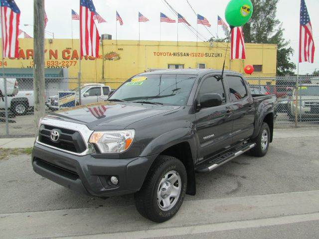 2012 TOYOTA TACOMA PRERUNNER V6 4X2 4DR DOUBLE CAB gray abs - 4-wheel active head restraints - d