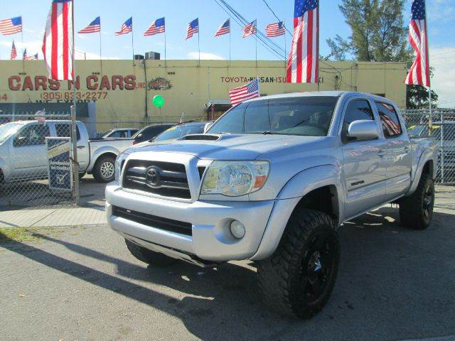 2006 TOYOTA TACOMA PRERUNNER V6 4DR DOUBLE CAB SB silver abs - 4-wheel airbag deactivation - occu