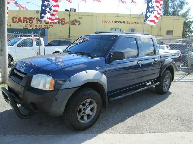 2002 NISSAN FRONTIER XE-V6 4DR CREW CAB 2WD SB blue abs - 4-wheel axle ratio - 464 center conso