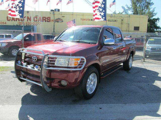 2004 TOYOTA TUNDRA LIMITED 4DR DOUBLE CAB RWD SB red abs - 4-wheel anti-theft system - alarm axl