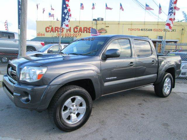 2011 TOYOTA TACOMA PRERUNNER V6 4X2 4DR DOUBLE CAB gray abs - 4-wheel active head restraints - du