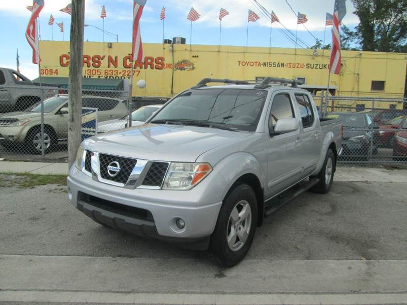 2007 NISSAN FRONTIER SE 4DR CREW CAB 50 FT SB 4L V silver abs - 4-wheel active head restraint