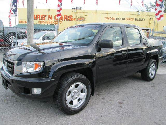 2009 HONDA RIDGELINE RT 4X4 4DR CREW CAB SUV black abs - 4-wheel active head restraint adjustabl