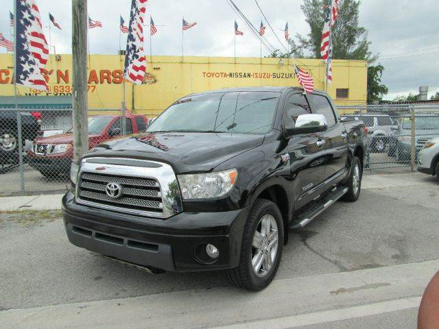 2008 TOYOTA TUNDRA LIMITED 4X2 PICKUP CREWMAX 4DR black 2-stage unlocking - remote abs - 4-wheel