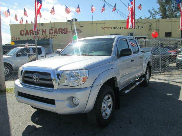 2010 TOYOTA TACOMA PRERUNNER V6 4X2 4DR DOUBLE CAB silver abs - 4-wheel active head restraints -