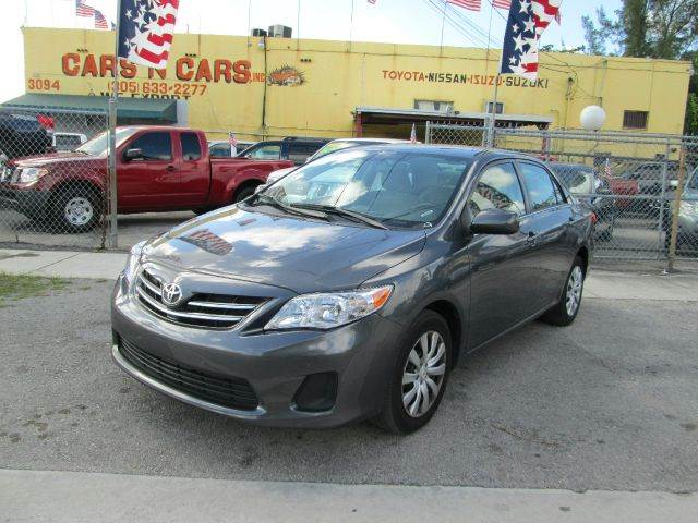 2013 TOYOTA COROLLA L 4DR SEDAN 5M gray abs - 4-wheel active head restraints - dual front air fi