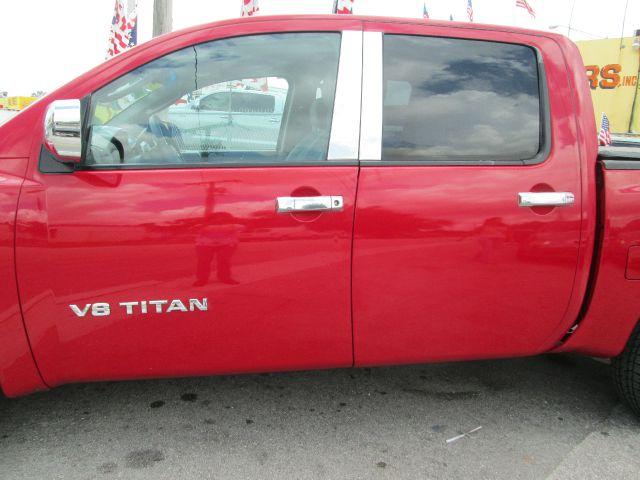 2007 NISSAN TITAN SE 4DR CREW CAB SB red 2-stage unlocking - remote abs - 4-wheel active head re