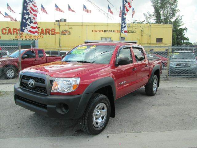 2011 TOYOTA TACOMA PRERUNNER 4X2 4DR DOUBLE CAB 50 red abs - 4-wheel active head restraints - du
