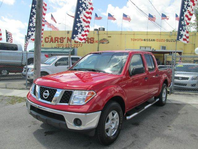 2008 NISSAN FRONTIER LE 4X2 PICKUP CREW CAB red 2-stage unlocking - remote abs - 4-wheel active