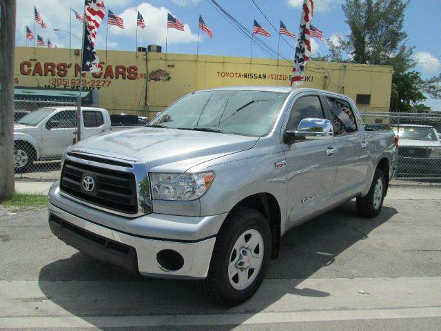 2011 TOYOTA TUNDRA GRADE 4X2 4DR CREWMAX CAB PICKUP silver abs - 4-wheel auxiliary audio input -