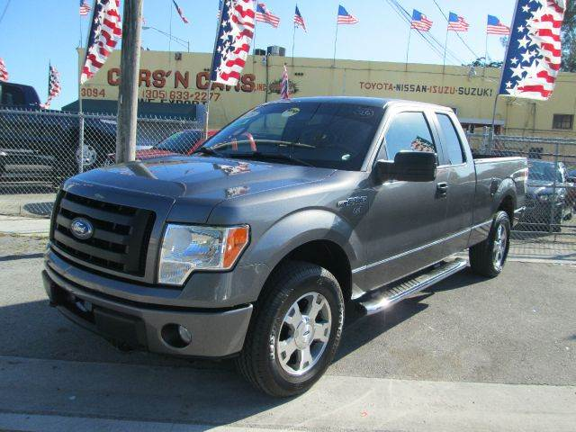 2010 FORD F-150 STX 4X4 4DR SUPERCAB STYLESIDE 6 gray 4wd type - part time abs - 4-wheel alterna