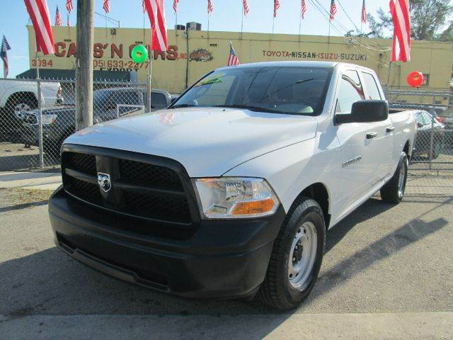 2012 RAM RAM PICKUP 1500 ST 4X2 4DR QUAD CAB 63 FT SB P white abs - 4-wheel airbag deactivatio
