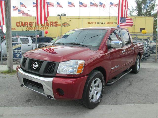 2006 NISSAN TITAN SE FFV 4DR CREW CAB SB red abs - 4-wheel airbag deactivation - occupant sensin