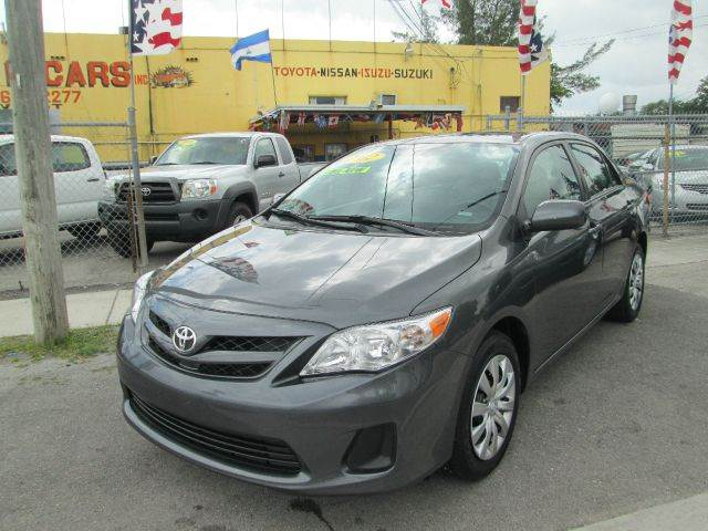 2012 TOYOTA COROLLA LE 4-SPEED AT gray 38448 miles VIN 2T1BU4EE8CC821348
