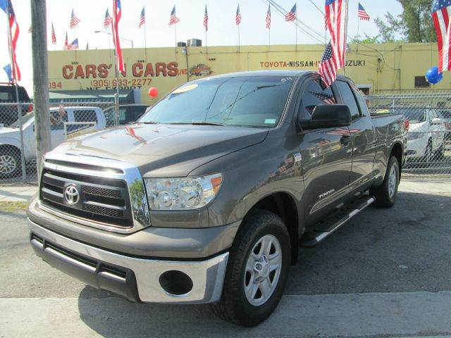 2010 TOYOTA TUNDRA GRADE 4X2 4DR DOUBLE CAB PICKUP brown 2-stage unlocking - remote abs - 4-whee