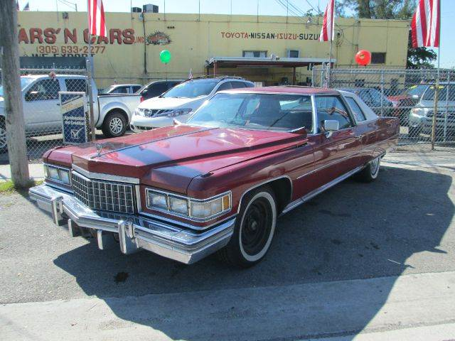 1975 CADILLAC DEVILLE red 65510 miles VIN 6D47S5E506860