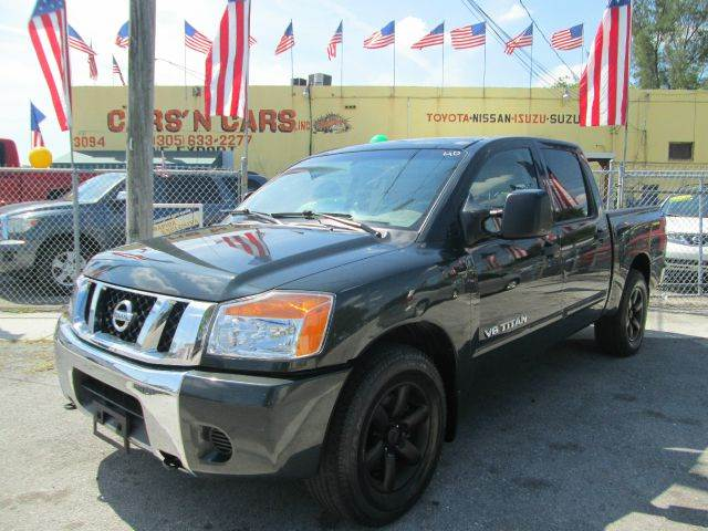 2008 NISSAN TITAN XE 4X2 PICKUP CREW CAB SHORT BED green 2-stage unlocking abs - 4-wheel airbag