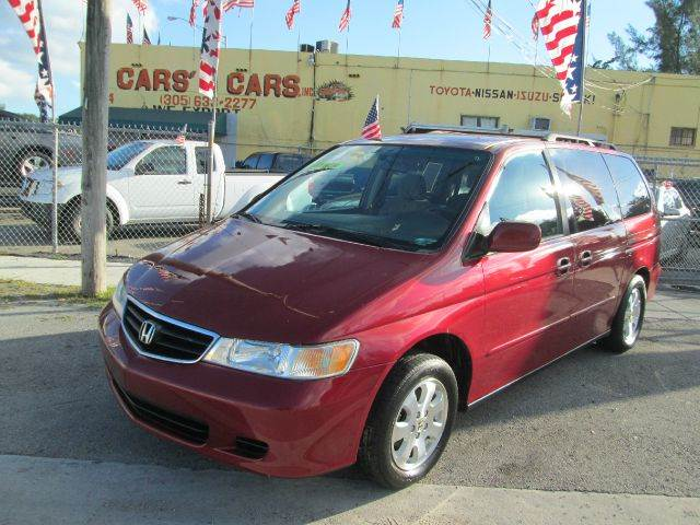 2003 HONDA ODYSSEY EX 4DR MINIVAN red abs - 4-wheel anti-theft system - alarm captain chairs - 4