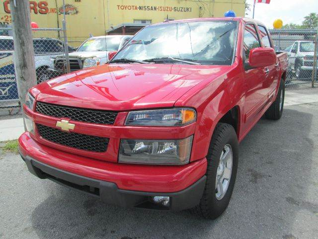 2012 CHEVROLET COLORADO LT 4X2 4DR CREW CAB W1LT red 2-stage unlocking - remote abs - 4-wheel