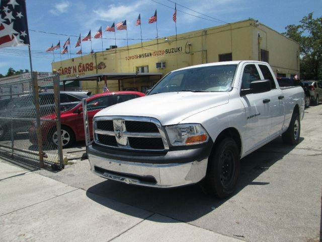 2011 RAM RAM PICKUP 1500 ST 4X2 4DR QUAD CAB 63 FT SB P white 50 state emissions abs - 4-wheel