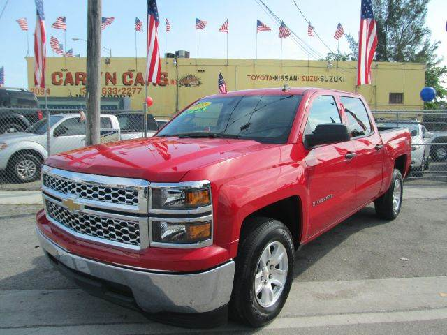 2014 CHEVROLET SILVERADO 1500 LT 4X2 4DR CREW CAB 58 FT SB W red abs - 4-wheel air filtration