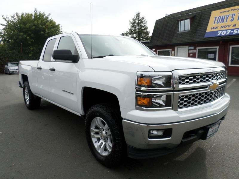 2014 CHEVROLET SILVERADO 1500 LT 4X4 4DR DOUBLE CAB 65 FT SB white one owner truck z71