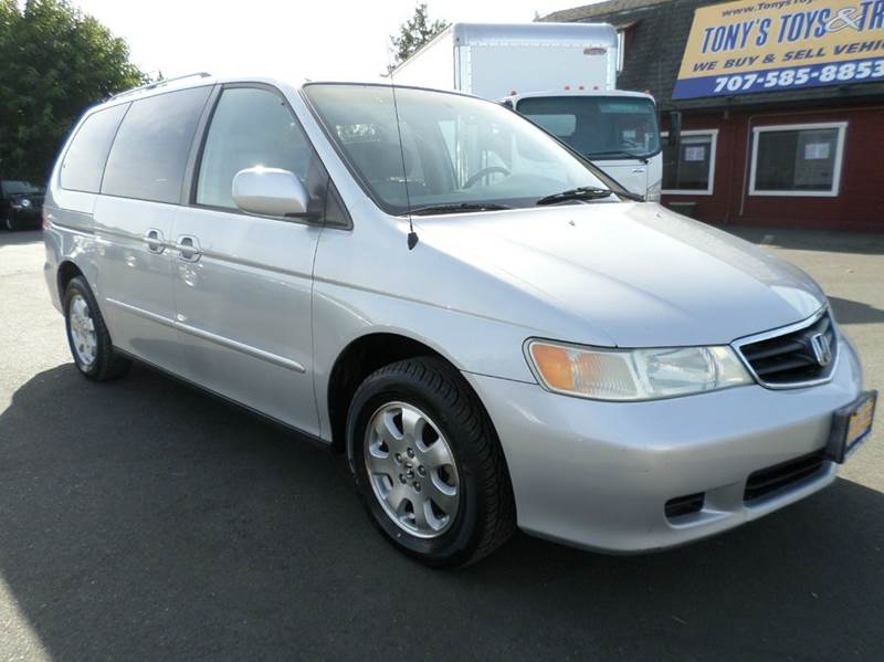 2002 HONDA ODYSSEY EX L WDVD 4DR MINI VAN AND LEAT silver one owner vehicle new tires