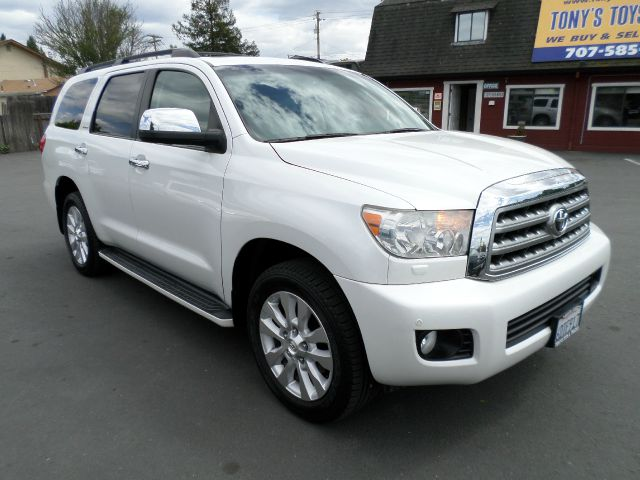 2008 TOYOTA SEQUOIA PLATINUM 4X4 SUV white 1 owner 2-stage unlocking 4wd type - part time abs -