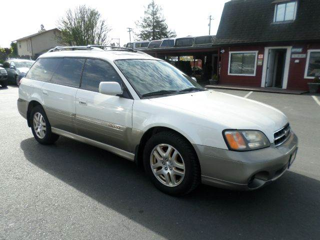 2002 SUBARU OUTBACK LIMITED AWD 4DR WAGON pearl white abs - 4-wheel cassette clock cruise cont
