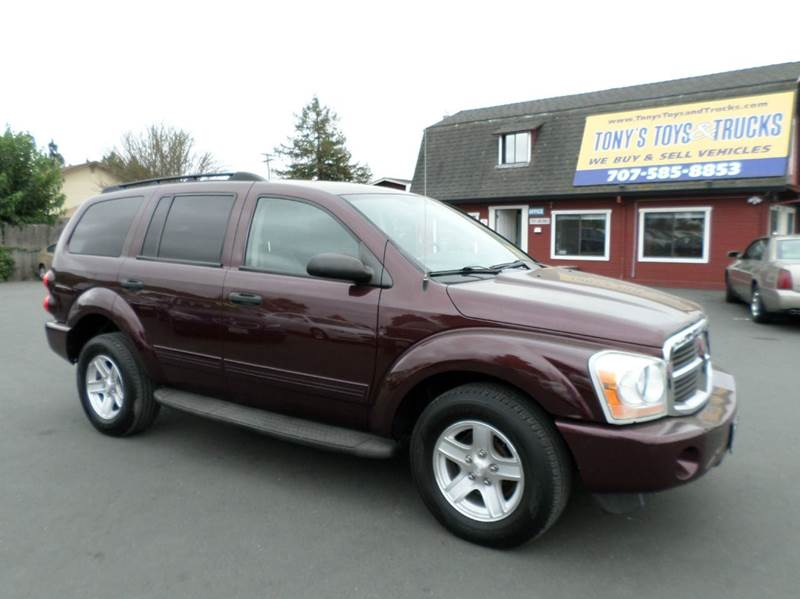 2004 DODGE DURANGO SLT 4DR SUV burgandy 1 owner vihecle abs - 4-wheel alloy wheels axle rat