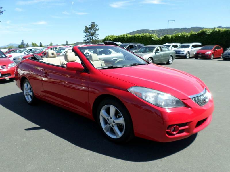 2008 TOYOTA CAMRY SOLARA SLE V6 2DR CONVERTIBLE 5A red only 24492 miles one owner vehicle