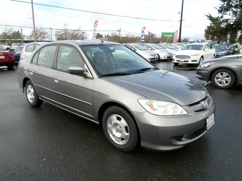 2004 HONDA CIVIC HYBRID 4DR SEDAN gray hybrid manual 5sp abs - 4-wheel center console