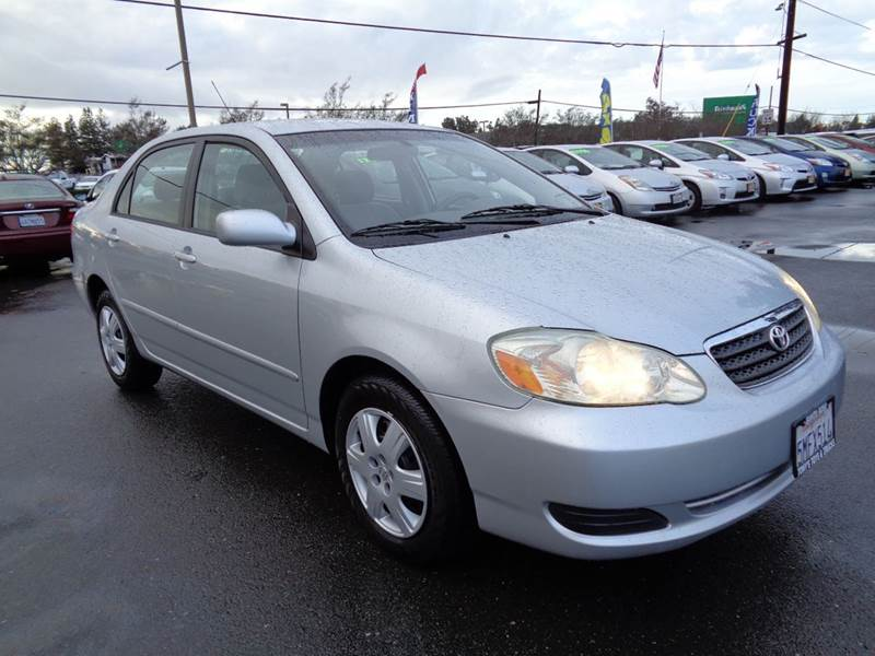 2005 TOYOTA COROLLA LE 4DR SEDAN silver 2635 mpg center console - front console wit