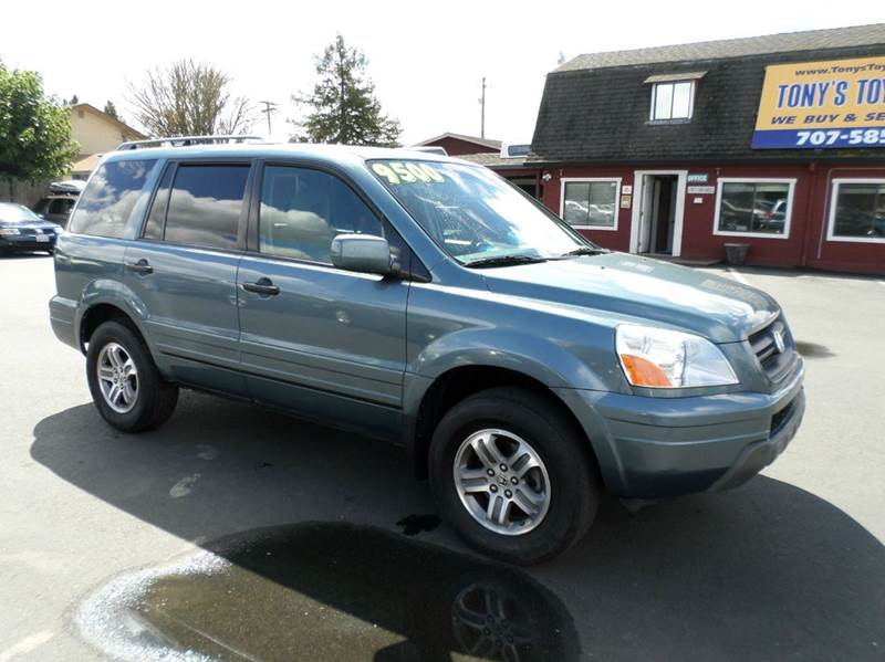 2005 HONDA PILOT EX 4WD 4DR SUV teal green 3rd row seating 4wd type - on demand abs - 4-whee