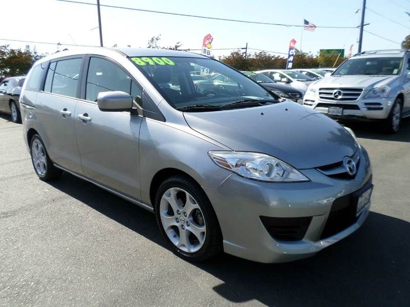 2010 MAZDA MAZDA5 TOURING 4DR MINI VAN 5A silver new tires 2-stage unlocking doors abs -