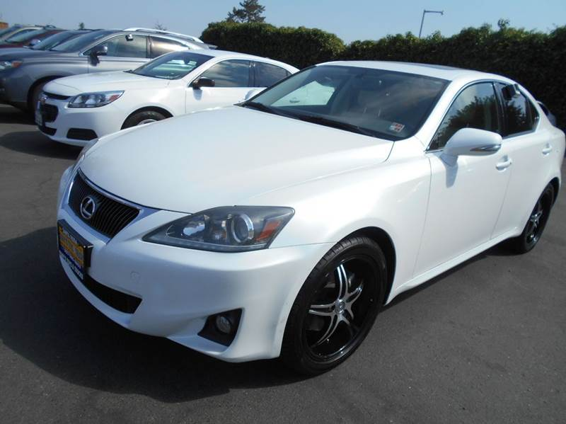 2012 LEXUS IS 250 BASE AWD 4DR SEDAN pearl white awd  paddle shifters 2-stag