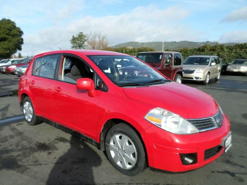 2008 NISSAN VERSA 18 S 4DR HATCHBACK 6M red active head restraints - dual front air filtration