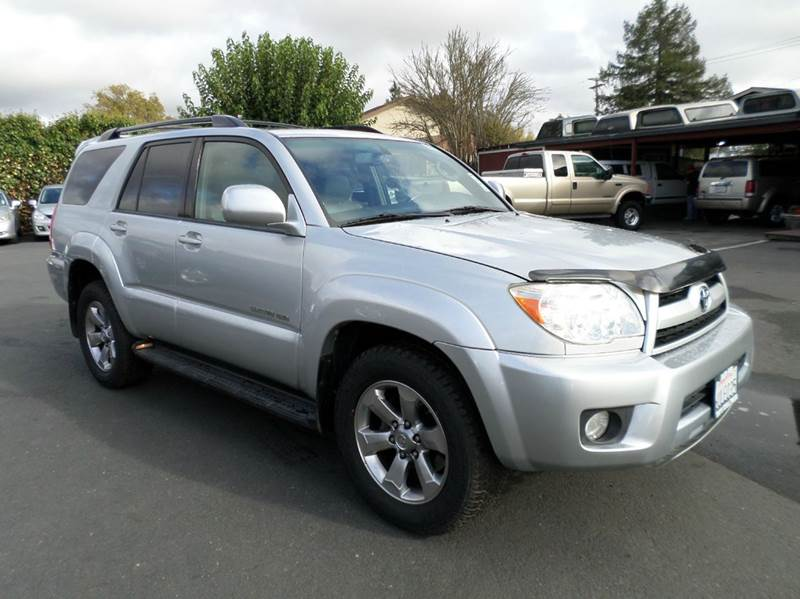 2007 TOYOTA 4RUNNER LIMITED 4DR SUV 4WD V6 silver limited 4x4new tires 2-stage unl