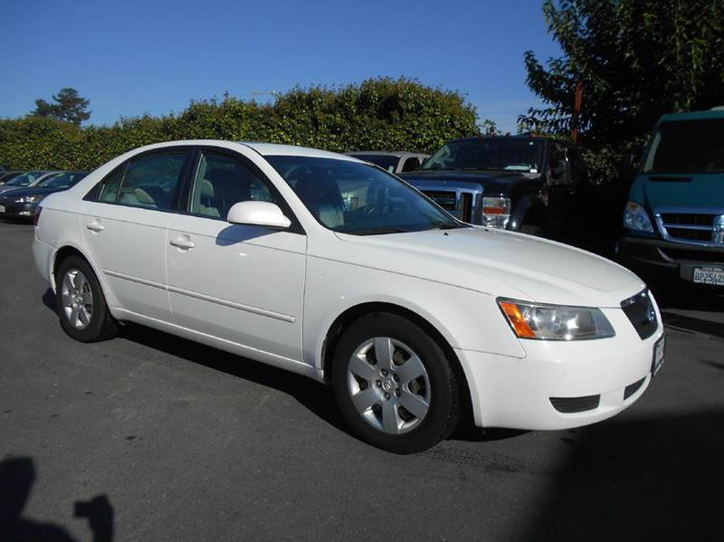 2008 HYUNDAI SONATA GLS V6 4DR SEDAN white 2-stage unlocking doors abs - 4-wheel active head re