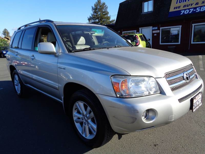 2006 TOYOTA HIGHLANDER HYBRID BASE 4DR SUV silver one owner vehiclejbl audio abs - 4-